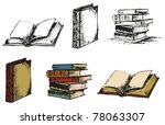 ancient books. pen sketch... | Shutterstock .eps vector #78063307