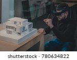 young confident caucasian male... | Shutterstock . vector #780634822