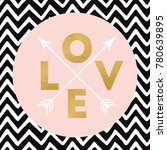 gold sparkle letters love with... | Shutterstock .eps vector #780639895