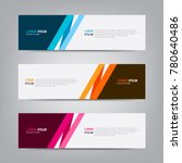 Banner background. Modern template vector design | Shutterstock vector #780640486