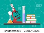 laboratory equipment  jars ... | Shutterstock .eps vector #780640828