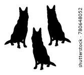 set of german shepherd dogs... | Shutterstock .eps vector #780648052