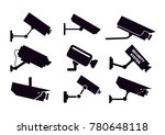 cctv security cameras  | Shutterstock .eps vector #780648118