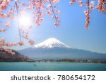 good morning mt.fuji mountain... | Shutterstock . vector #780654172