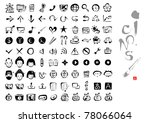 calligraphy icons | Shutterstock .eps vector #78066064