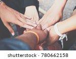 people hands harmonious... | Shutterstock . vector #780662158