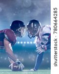 american football players are... | Shutterstock . vector #780664285