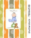 baby shower announcement | Shutterstock .eps vector #78066538
