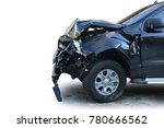 an accident with a black car... | Shutterstock . vector #780666562