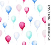 watercolor baby shower pattern. ... | Shutterstock . vector #780667225