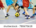 children playing soccer with... | Shutterstock . vector #780670618