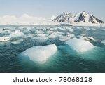 Glacier Ice Floating In The Se...