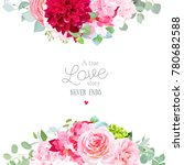 floral vector banner frame with ... | Shutterstock .eps vector #780682588