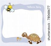 baby announcement card | Shutterstock .eps vector #78068677