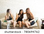 pretty girls dressed up and... | Shutterstock . vector #780694762