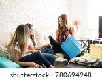 beautiful latin young woman... | Shutterstock . vector #780694948