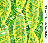 watercolour leaves pattern... | Shutterstock . vector #780695182