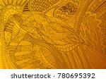 colored vintage  background ... | Shutterstock .eps vector #780695392