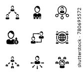 set of simple icons on a theme... | Shutterstock .eps vector #780695572