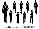 vector silhouettes of men and... | Shutterstock .eps vector #780704308