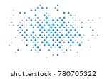 light blue vector modern... | Shutterstock .eps vector #780705322