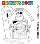 coloring book with barn and... | Shutterstock .eps vector #78070672