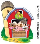 Barn With Various Farm Animals...