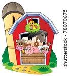barn with various farm animals  ... | Shutterstock .eps vector #78070675
