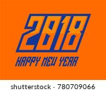 2018 new year card | Shutterstock .eps vector #780709066