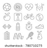 health and fitness line icons... | Shutterstock . vector #780710275