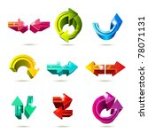 set of icons. color arrows... | Shutterstock .eps vector #78071131