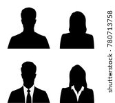 set silhouettes of men and... | Shutterstock .eps vector #780713758
