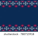 knitted pattern for sweater.... | Shutterstock .eps vector #780715918