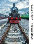 steam locomotive with red... | Shutterstock . vector #780715996