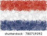 flag of netherlands with... | Shutterstock .eps vector #780719392