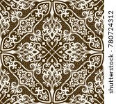 vector damask seamless pattern | Shutterstock .eps vector #780724312