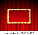 gold frame with light bulbs on... | Shutterstock .eps vector #780724426