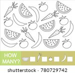 count how many fruits  berries... | Shutterstock .eps vector #780729742