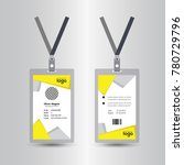 creative simple yellow id card... | Shutterstock .eps vector #780729796