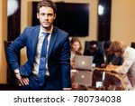 portrait of young businessman... | Shutterstock . vector #780734038