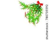 christmas tree decor | Shutterstock . vector #780735592
