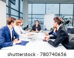 team leader and business owner... | Shutterstock . vector #780740656