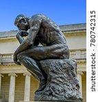 Small photo of San Francisco, CA USA - 08/07/2013 - San Francisco, CA USA - The Legion of Honor Rodin's The Thinker