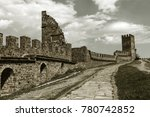 the ruins of the ancient... | Shutterstock . vector #780742852