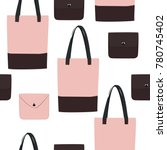 vector bags ang purses... | Shutterstock .eps vector #780745402