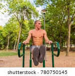 muscular young man during his...   Shutterstock . vector #780750145