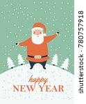 a winter holidays greeting card ... | Shutterstock .eps vector #780757918