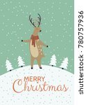 a winter holidays greeting card ... | Shutterstock .eps vector #780757936