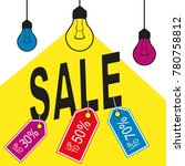 yellow sale with lamp | Shutterstock .eps vector #780758812