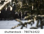 sparkling icicles on northern... | Shutterstock . vector #780761422